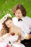 Pares novos do casamento no amor Imagem de Stock