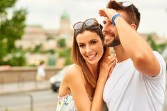 Pares novos do turista Imagens de Stock
