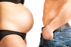 Pares da gravidez Imagem de Stock Royalty Free
