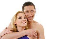 Pares novos felizes no amor Fotos de Stock Royalty Free