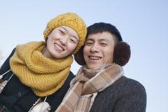 Pares novos fora no inverno, Pequim Imagem de Stock Royalty Free