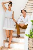 Pares novos na moda elegantes Imagem de Stock Royalty Free