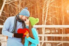 Pares novos no amor Imagem de Stock Royalty Free