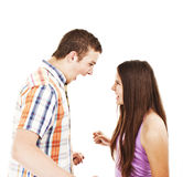 Pares novos: relações, problemas, desacordo Fotos de Stock