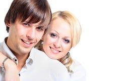 Pares novos românticos Foto de Stock