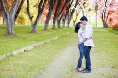 Pares novos românticos imagens de stock