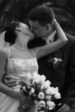 pares Nuevo-casados Fotografía de archivo