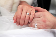 pares Nuevo-casados Foto de archivo libre de regalías