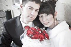 pares Nuevo-casados Imagen de archivo libre de regalías