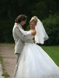 pares Nuevo-casados Fotos de archivo