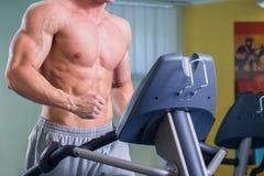 Pares ostentando no gym Foto de Stock
