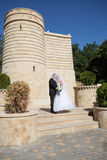 Pares perto do castelo Imagem de Stock