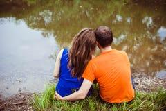 Pares por el río Imagen de archivo