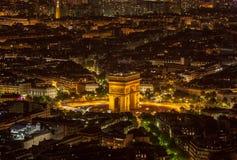 Pares por la opinión aérea de Night- Imagenes de archivo