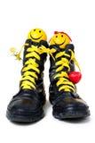 Pares positivos no amor com sorriso Foto de Stock