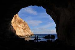 Pares preciosos en la cueva Fotografía de archivo libre de regalías