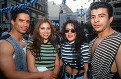 Pares puertorriqueños en Cinco de Mayo Celebration, Los Ángeles, CA Fotografía de archivo