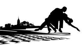 Pares que bailan el tango Imagenes de archivo
