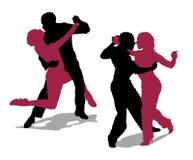 Pares que bailan el tango de Argentina Foto de archivo libre de regalías