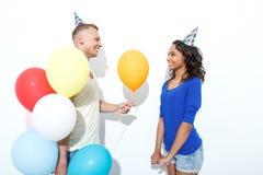 Pares que comemoram o aniversário Imagem de Stock Royalty Free
