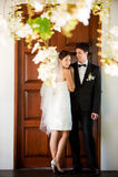 Pares que consiguen casados Foto de archivo libre de regalías