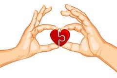 Pares que dão forma ao coração ilustração royalty free