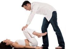 Pares que esperam o exercício do bebê Imagem de Stock Royalty Free