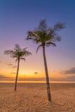 Pares que esperam o nascer do sol Fotos de Stock Royalty Free