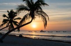 Pares que esperan el sol Fotos de archivo libres de regalías