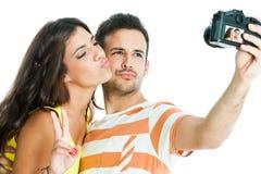 Pares que toman el selfie de la diversión Fotografía de archivo