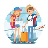 Pares que viajan de la gente joven Imagen de archivo