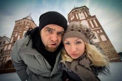 Pares que viajan en amor Fotografía de archivo libre de regalías