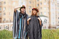 Pares rastafarian jovenes Imagen de archivo libre de regalías