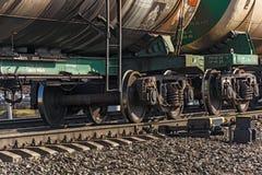 Pares rodados de vagões do frete do trem Imagem de Stock Royalty Free
