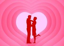 Pares románticos Foto de archivo libre de regalías