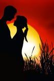 Pares románticos stock de ilustración