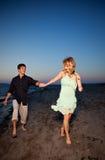 Pares románticos en amor Fotografía de archivo