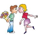 Pares românticos Ilustração Royalty Free