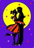 Pares românticos do Valentim do vetor ilustração do vetor