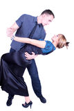 Pares românticos elegantes e felizes da dança Imagens de Stock Royalty Free