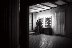 Pares românticos no teatro Foto de Stock
