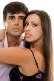 Pares românticos novos no amor Fotos de Stock Royalty Free