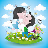 Pares românticos Imagem de Stock