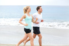 Pares running Foto de Stock Royalty Free