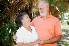 Pares sênior - bom relacionamento Fotografia de Stock Royalty Free