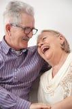 Pares sênior de sorriso felizes Fotografia de Stock Royalty Free