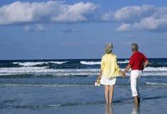Pares sênior em férias Fotos de Stock Royalty Free