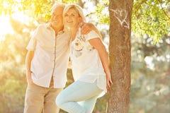 Pares sênior felizes no amor Foto de Stock Royalty Free