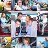 Pares sênior no carro fotografia de stock