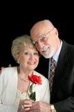 Pares sênior românticos Imagens de Stock Royalty Free
